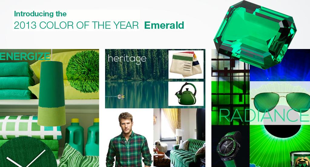 Årets färg 2013 från Pantone: Emerald, från Pia K