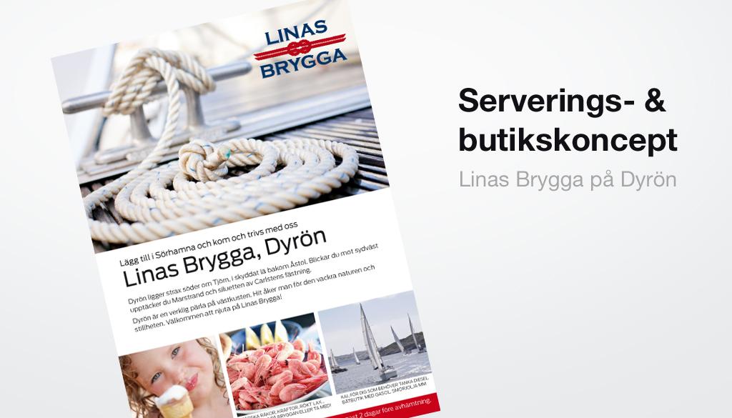 Linas brygga Dyrön skaldjur och glass