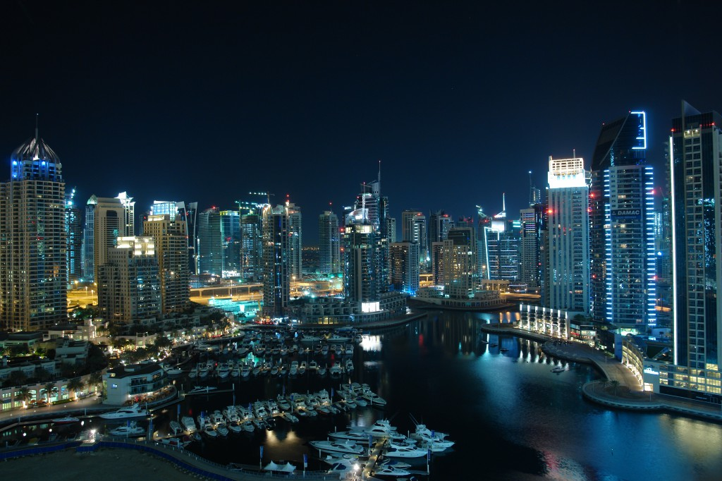 Dubai_Marina_at_Night_by_horstr-1024x682