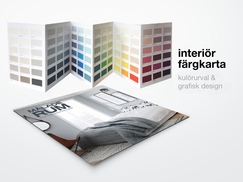 Målade rum är en färgkarta med 108 inomhuskulörer