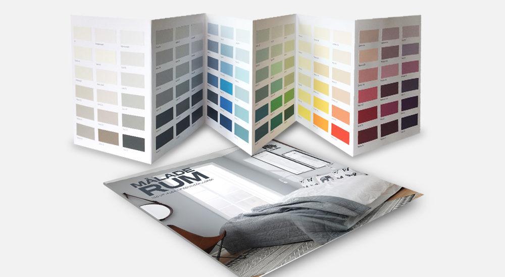 Målade rum färgkarta