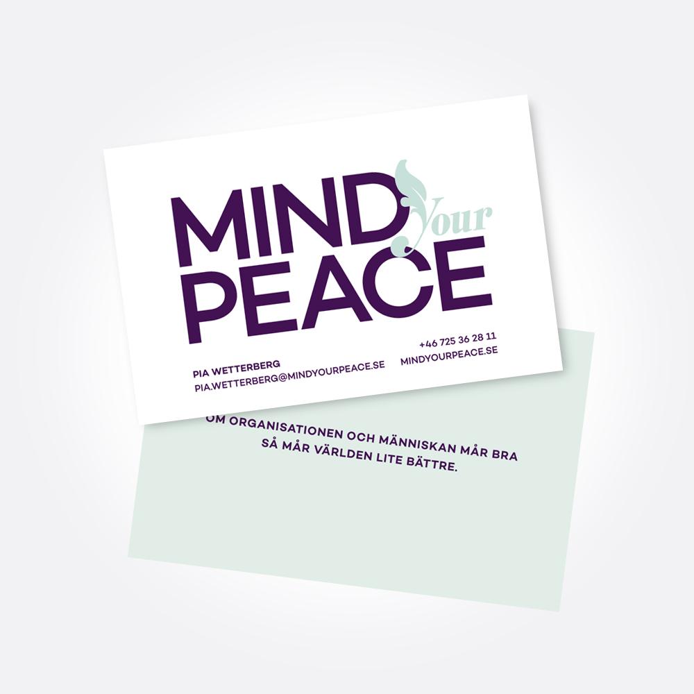 Mind your peace Visitkort