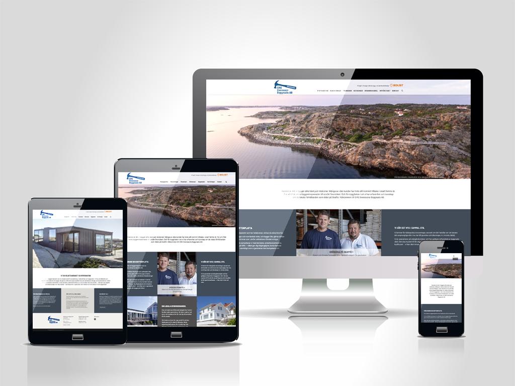 Ny responsiv webbplats för GRG Svensson Byggnads AB – design och content av Pia K