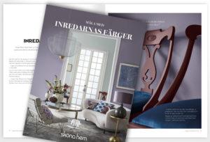 Omslag och första uppslag i broschyren om Caparol by Sköna hem