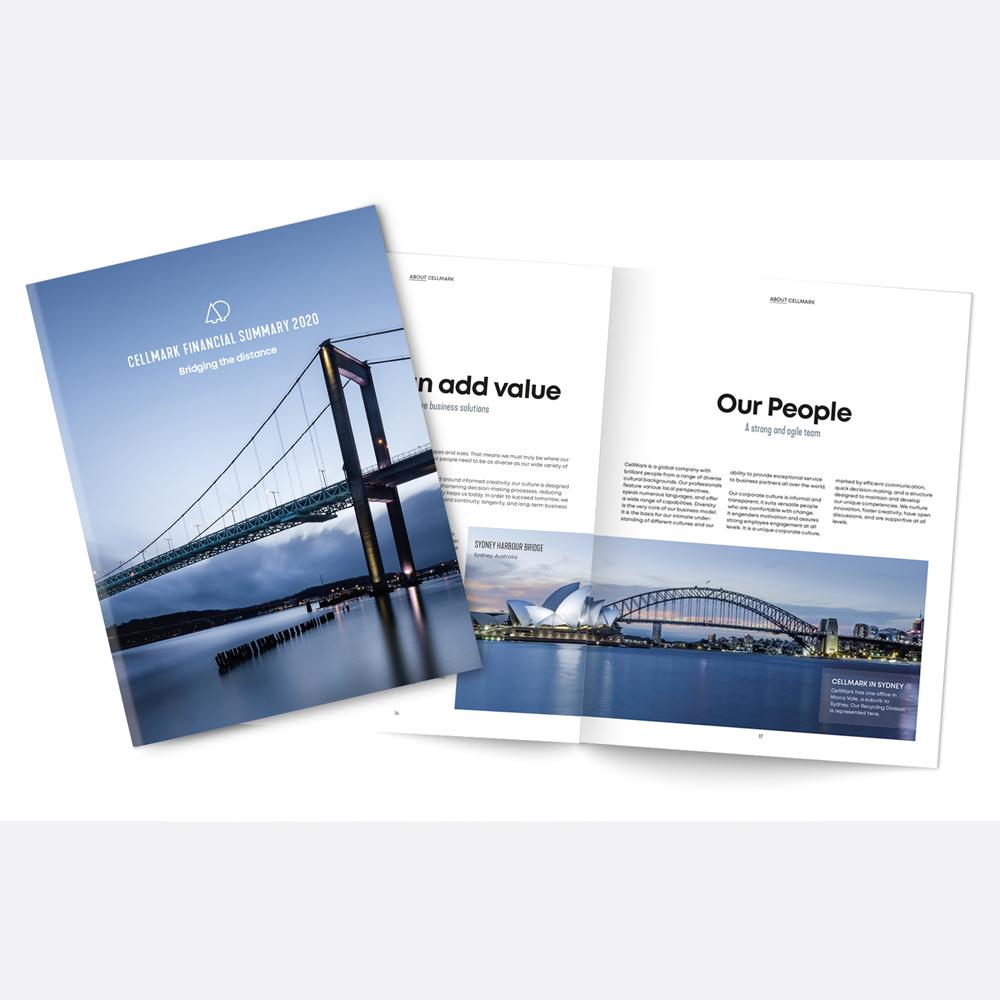 Broschyren CellMark Financial Summary skapad av Pia K.